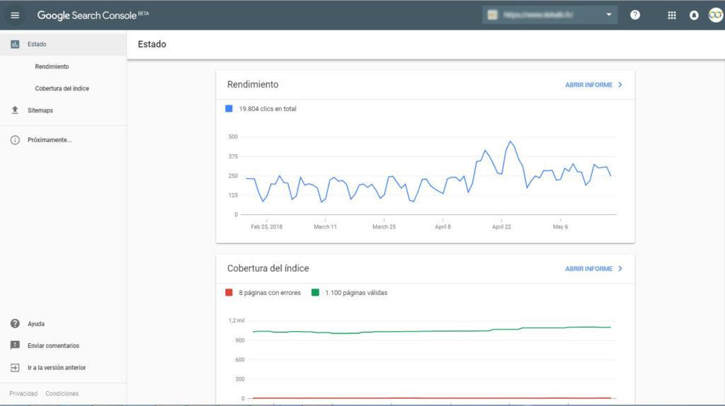 nueva interfaz google search console
