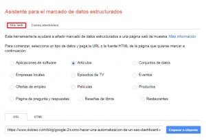 Guia Asistente para el Marcado de Datos Estructurados de Google