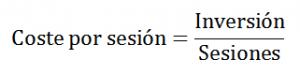 Formula para calcular el coste por sesión en SEO