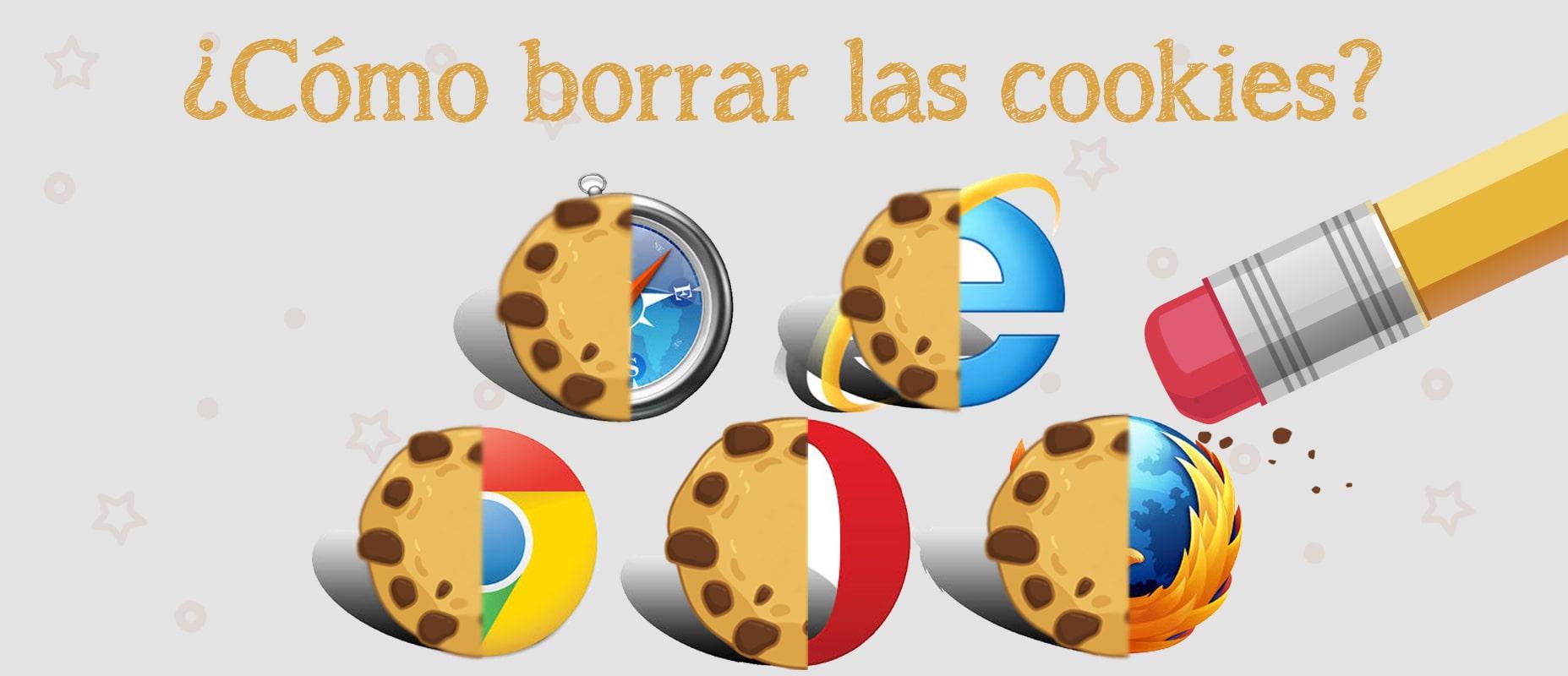 como borrar las cookies de los navegadores