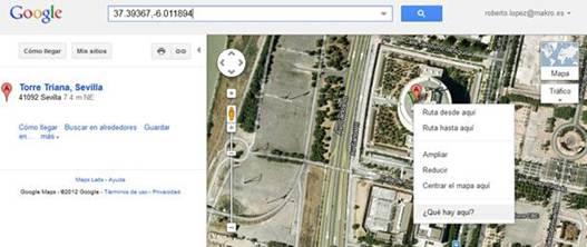 Recuperar coordenadas google map