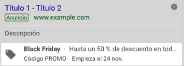 ejemplo promo