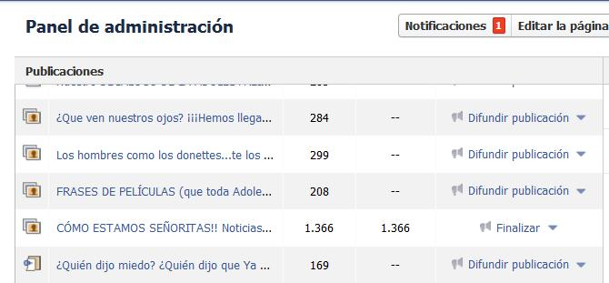 Post Promocionados de Facebook