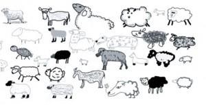 imagen del lienzo The sheep market